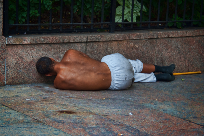 homeless and shirtless