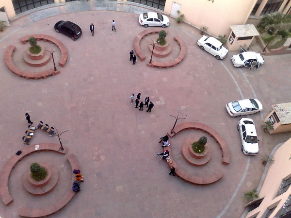 View of lawyers standing in dwarka court