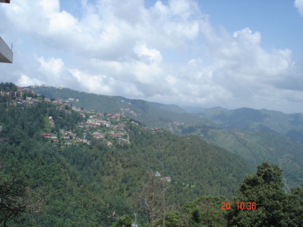 View of a small town near shimla