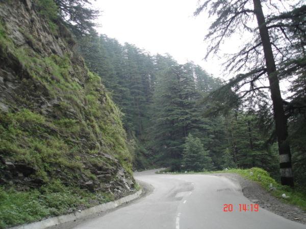 Road that connects shimla and kufri