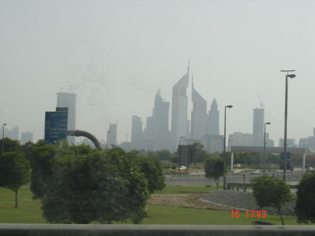 View of sky scrapers in dubai