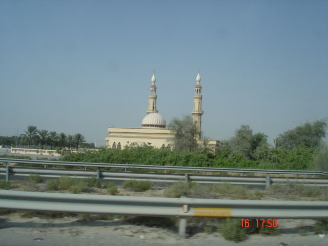 View of a small mosque in the outskirts of dubai