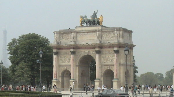 View of Arc de Triomphe in paris