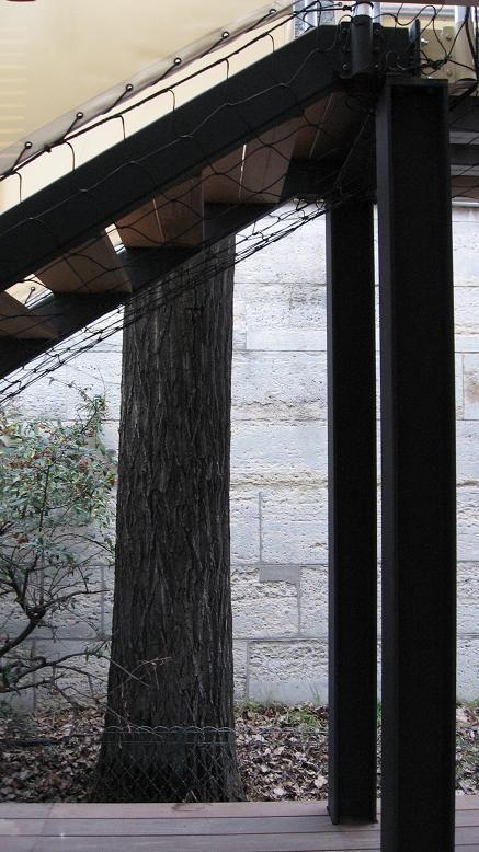 maison tropicale de Jean Prouvé poteaux