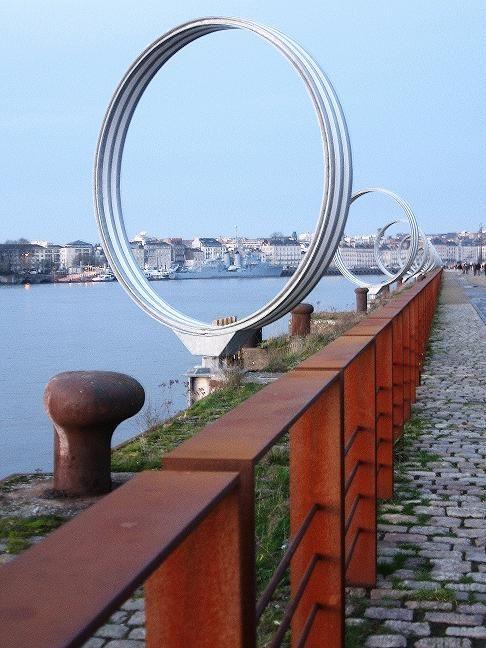 nantes daniel buren anneaux estuaire 2007 quais