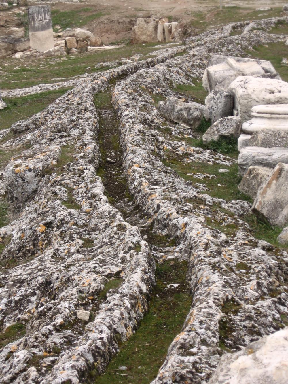 canalisations d'eau Pamukkale Hiérapolis