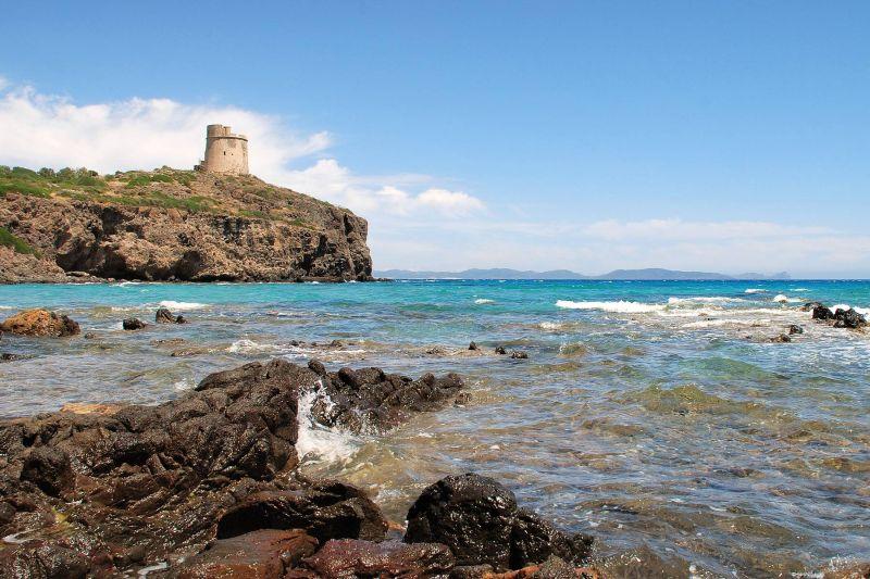 View of Sardinia from Sant' Antioco Island
