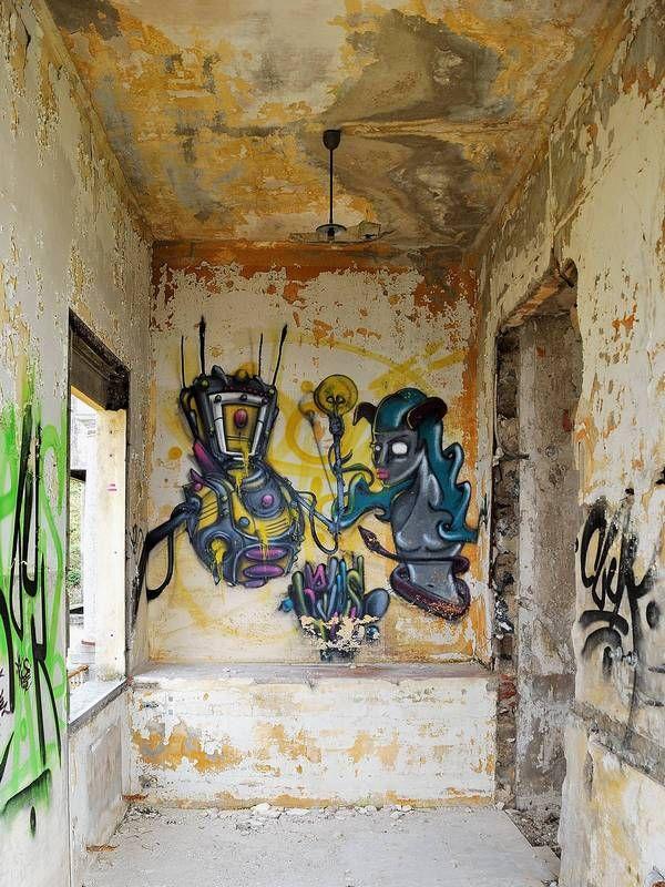 Graffiti on abandoned sanatoriums