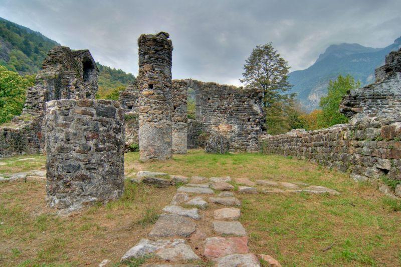 Serravalle castle ruins
