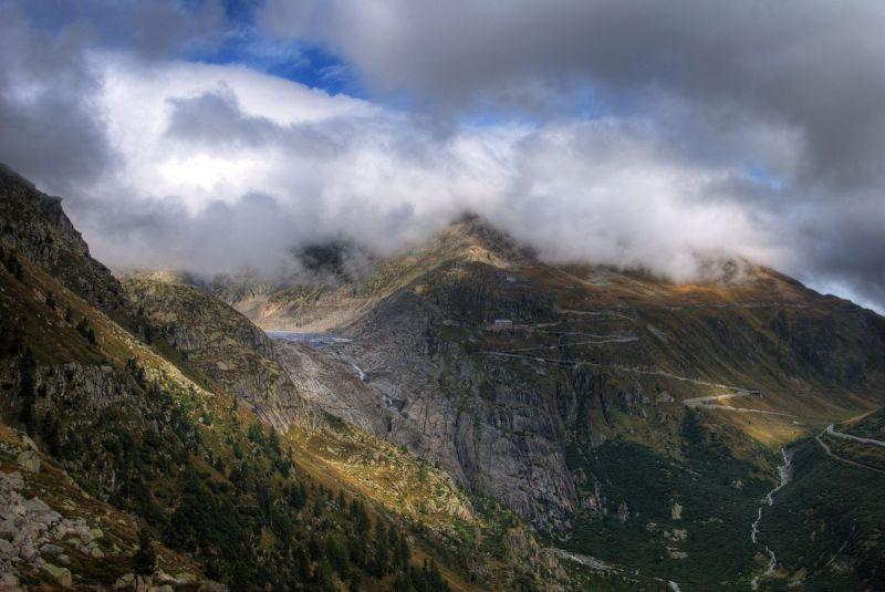 Furka Pass and Rhone Glacier