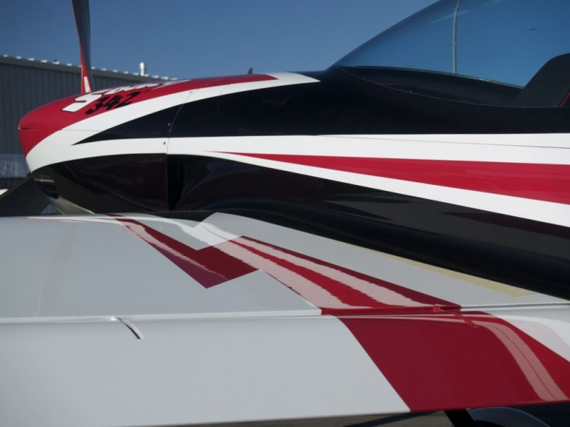 Beautiful lines on a aerobatic airplane.