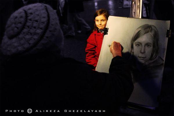 "Portrait of ""Little girl in Red"""