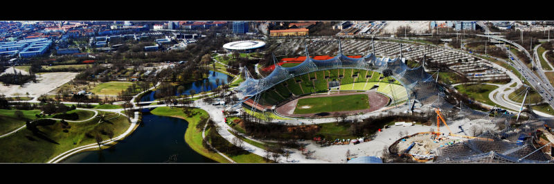 Panorama of munich olympic stadium