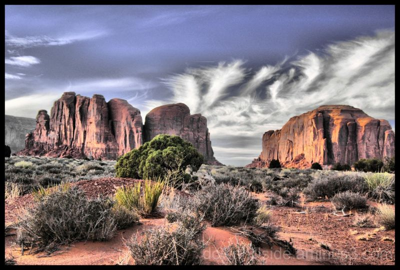 Butte in Monument Valley Indian Tribal Park (HDR)