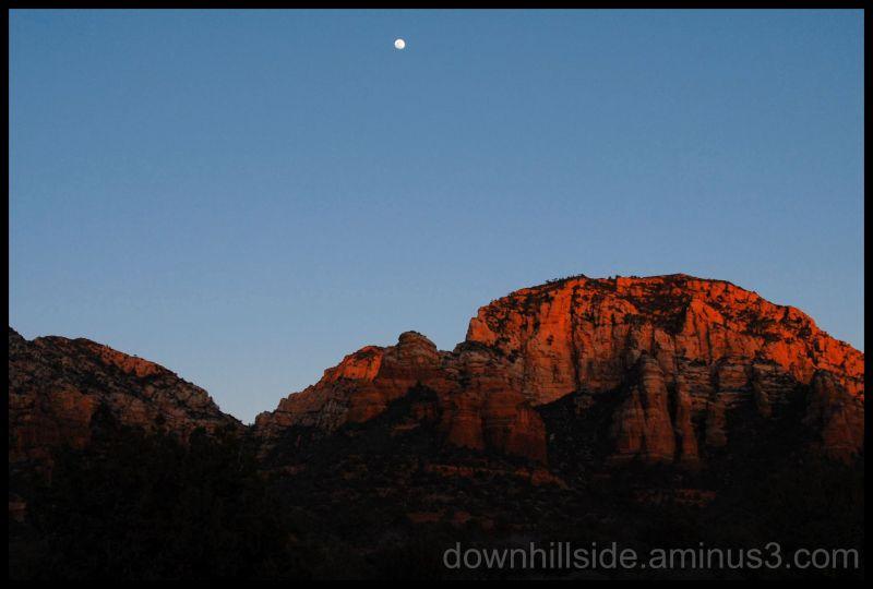 Setting Sun - Rising Moon  (HDR)