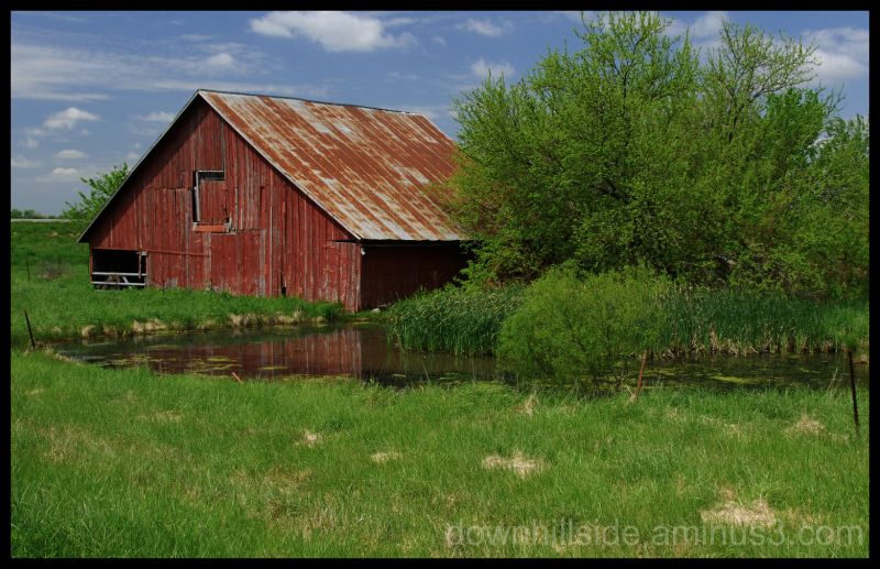 Old Barn and Pond