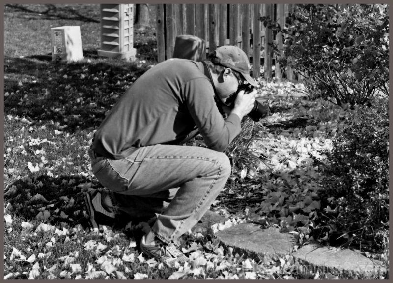 Paul Lines Up a Shot!