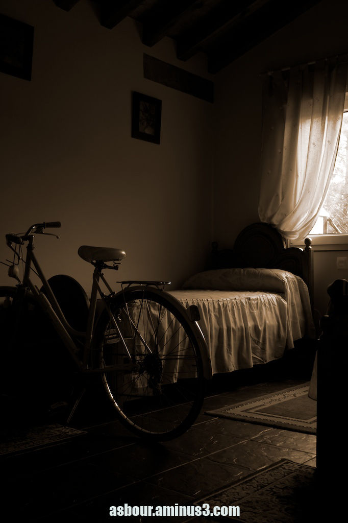 Old bike, B+W
