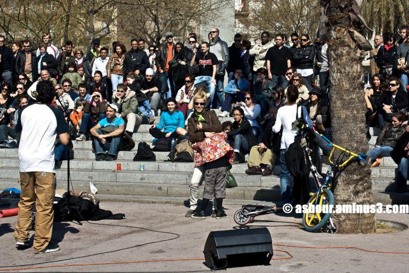 Música callejera en Barcelona