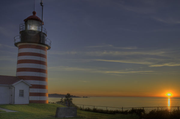 West Quoddy Head Lighthouse HDR