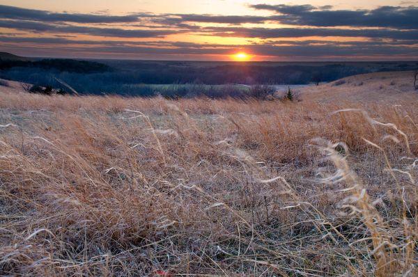 Kansas Prairie Sunset