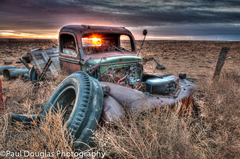 Old Truck at Sunrise