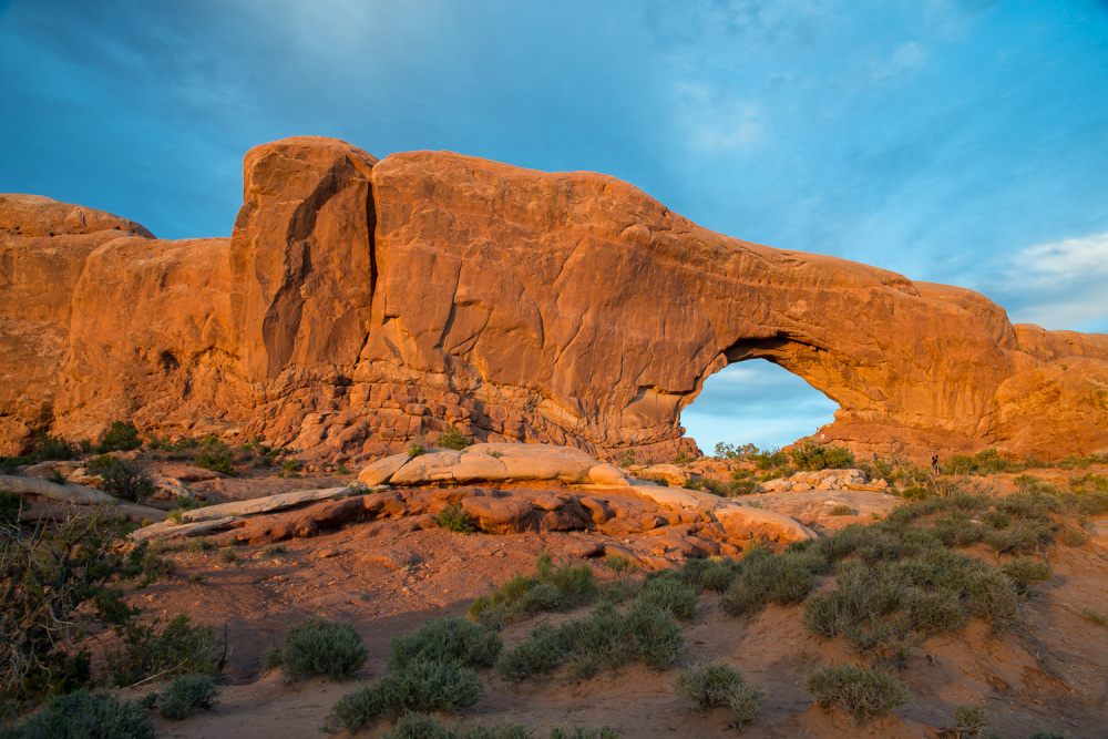 North Window Arch at Sunset