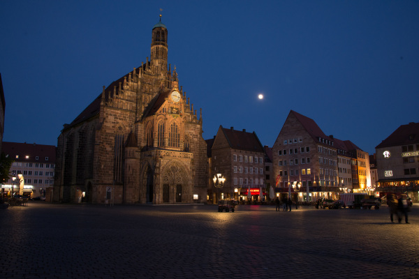 Market Square and Moon