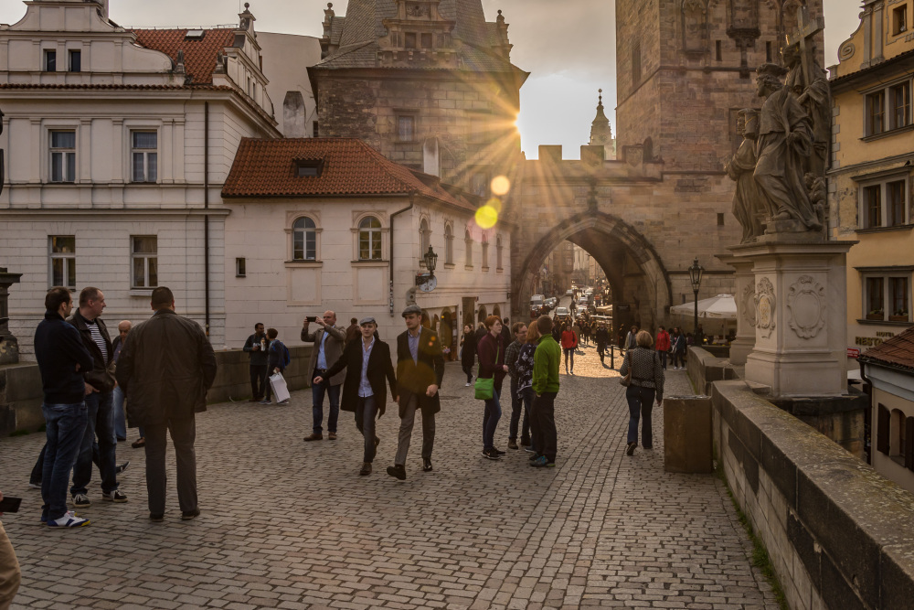 An Afternoon at the Charles Bridge, Prague
