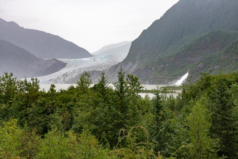 Rainforest Hike 4 - Glacier view