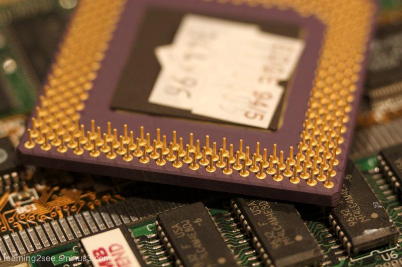 CPU Macro shot