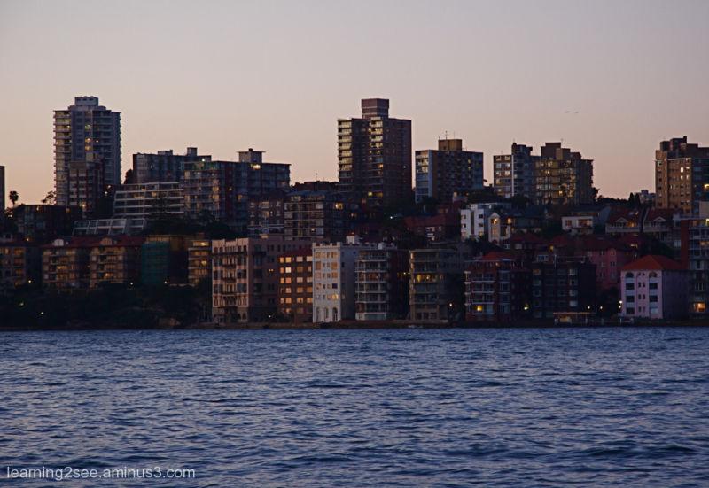 Looking across Sydney Harbour into Kirribilli