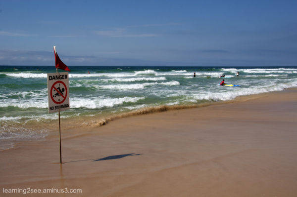 Surfers ignoring the warnings