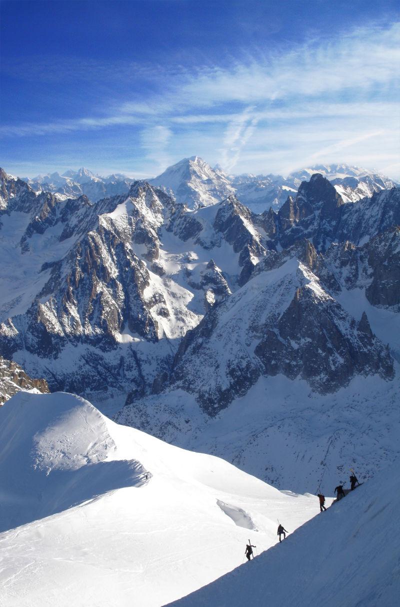 Kiking on Mount Blanc
