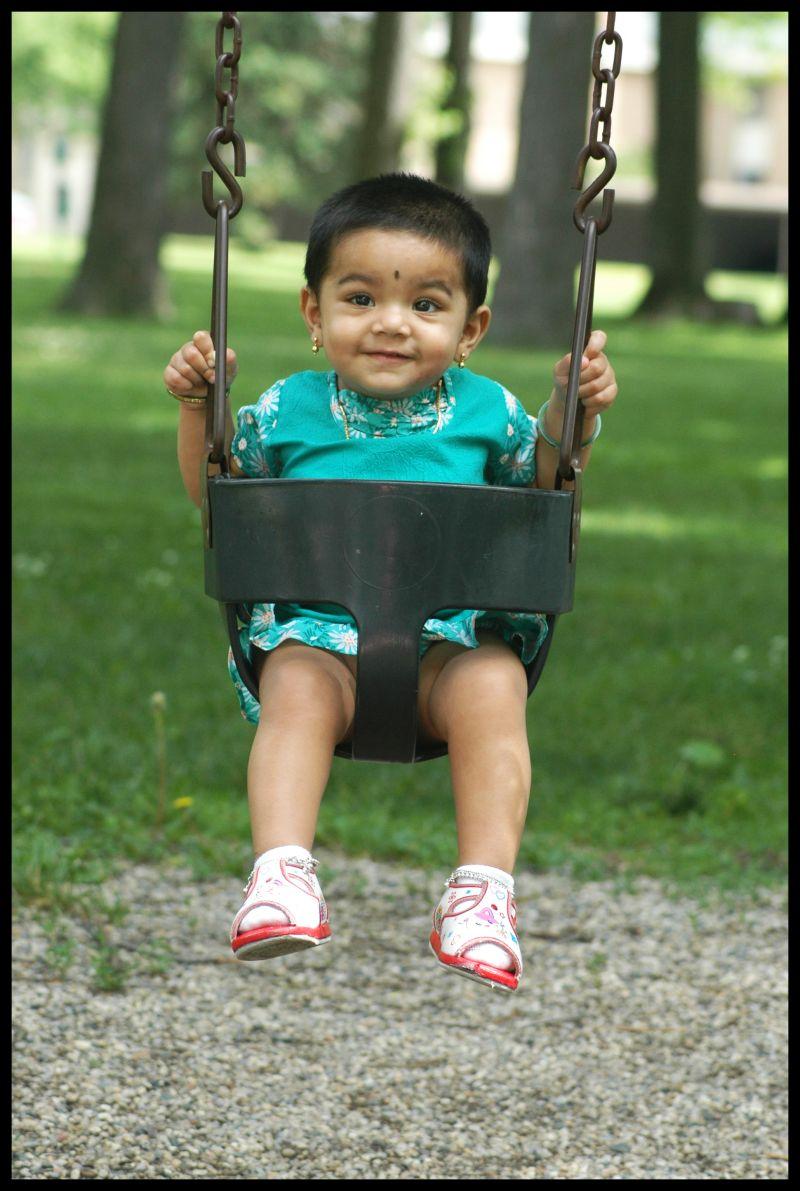 Maya on a Swing