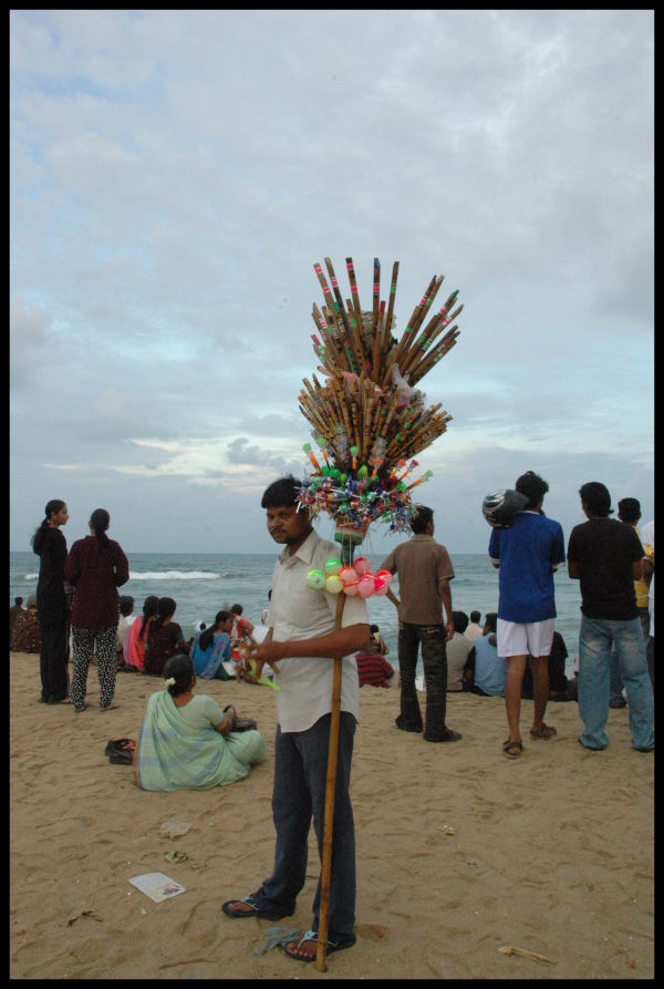 Flute Seller on the Beach