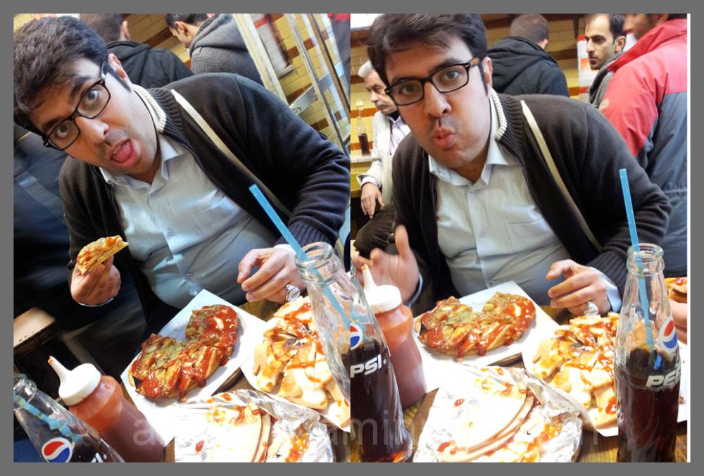 خودم و پیتزا