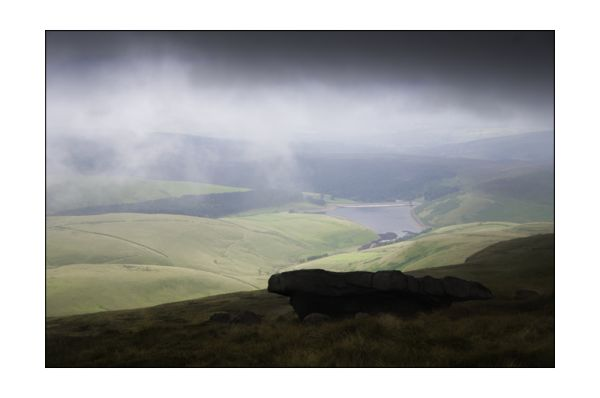 Rainstorm on Kinder Scout