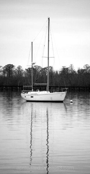 Sailboat in winter