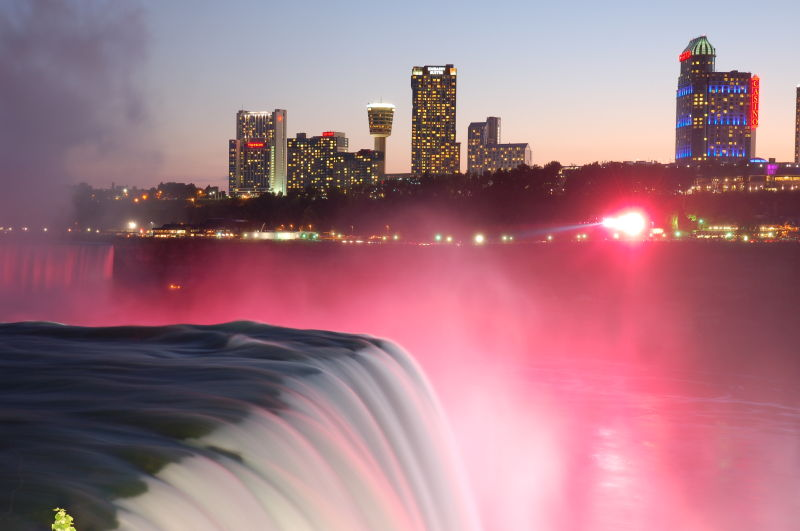Niagara Falls lights.