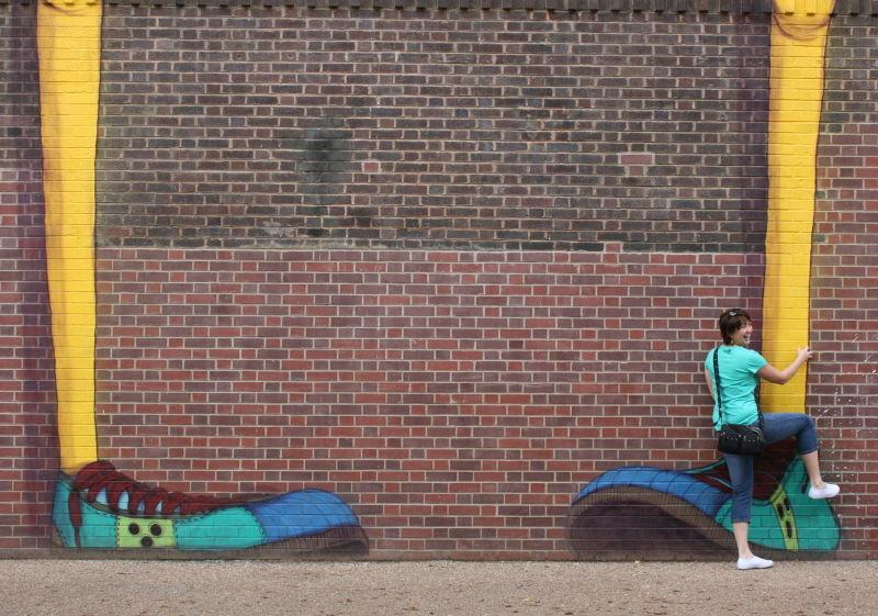 Graffiti on the Tate Modern