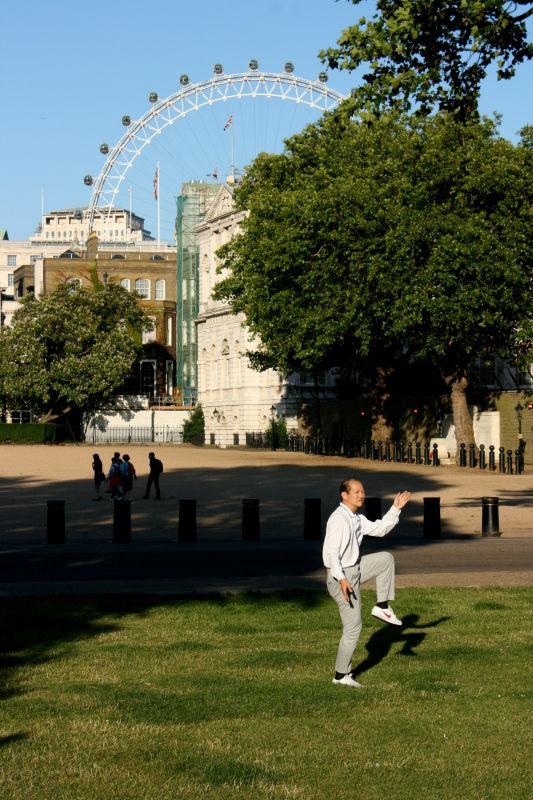 Tai Chi man at St. James' Park, London