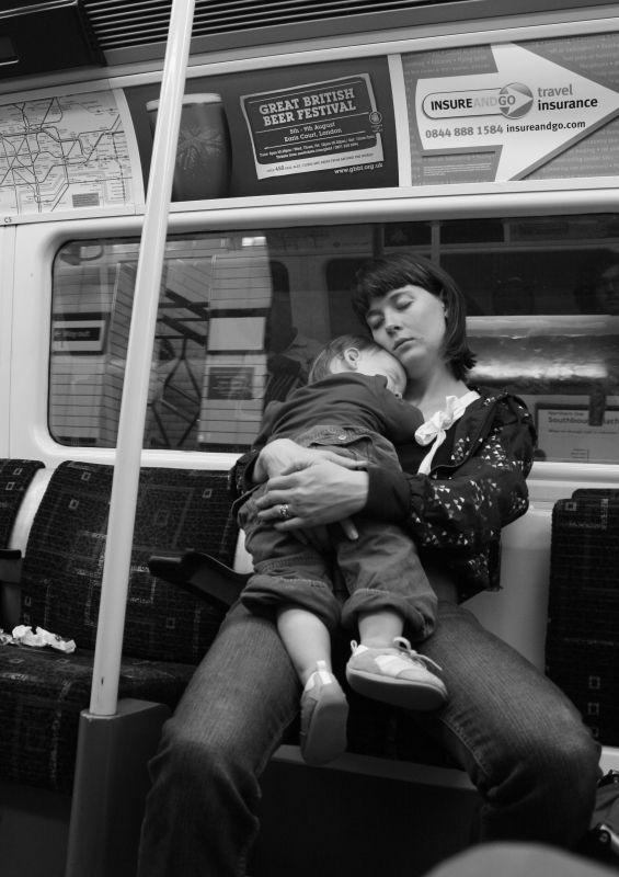 Mother in London tube