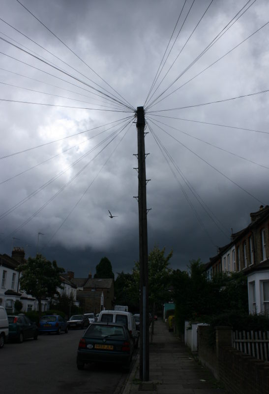 A telephone (?) pole in north London