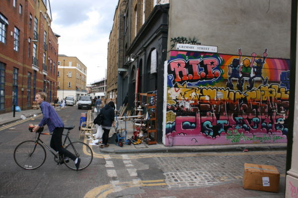 Graffiti around Spitlefields Market