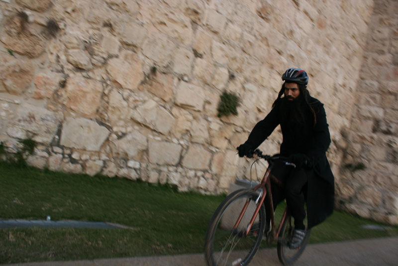 Biker in Jerusalem