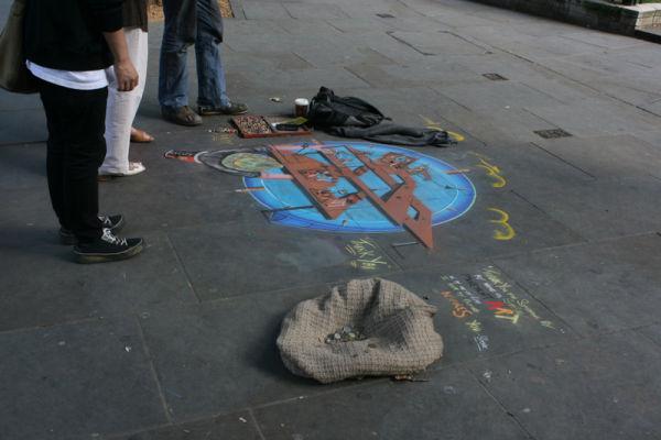 London sidewalk art