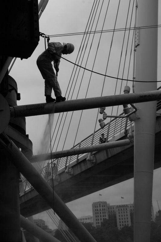 Bridge hose down