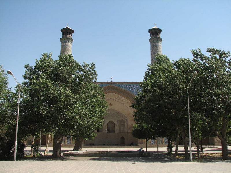 Courtyard, Great (Atiq) Mosque, Qazvin, Iran