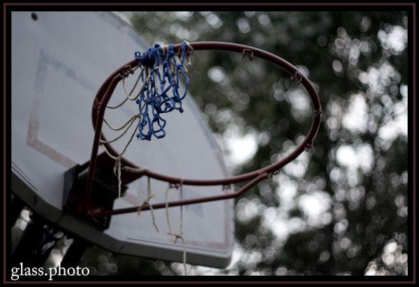 Unused Basketball Net